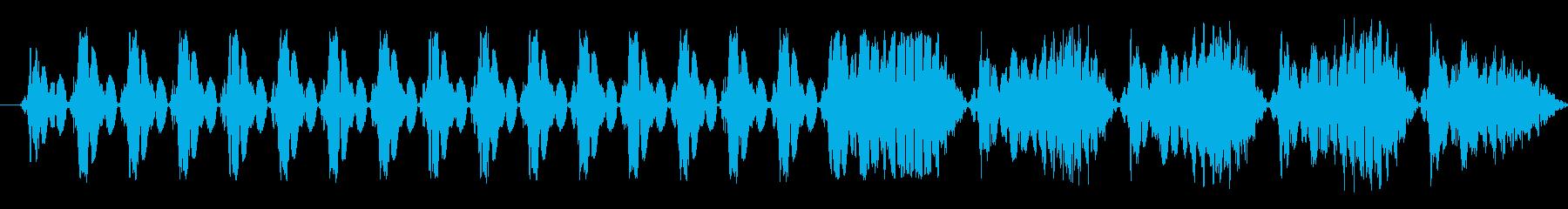 機械的な選択・決定音 ビコの再生済みの波形