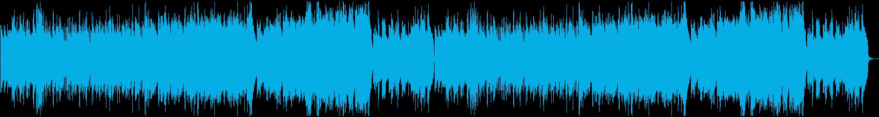 優しい森のヒーリングの再生済みの波形