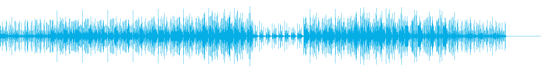 不気味ながらコミカルな曲の再生済みの波形