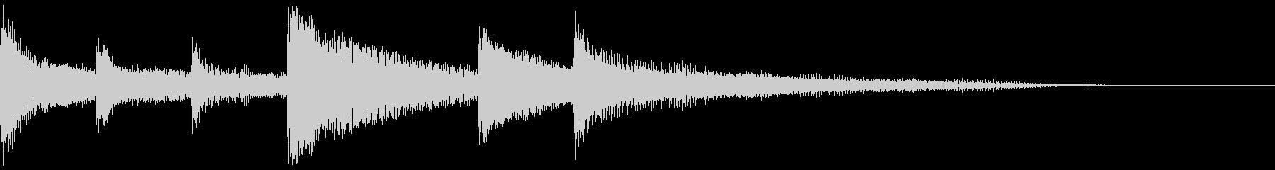 優しさ溢れるピアノのジングル2の未再生の波形