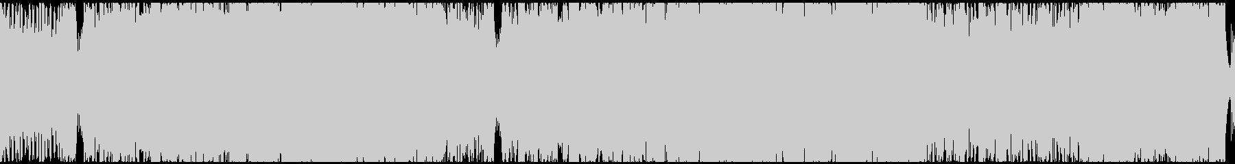 疾走感のあるサイバー戦闘曲(ループ)の未再生の波形