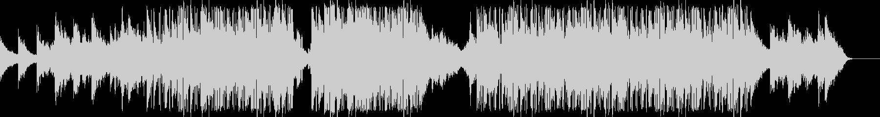 エレキギターのコードが特徴的なBGMの未再生の波形
