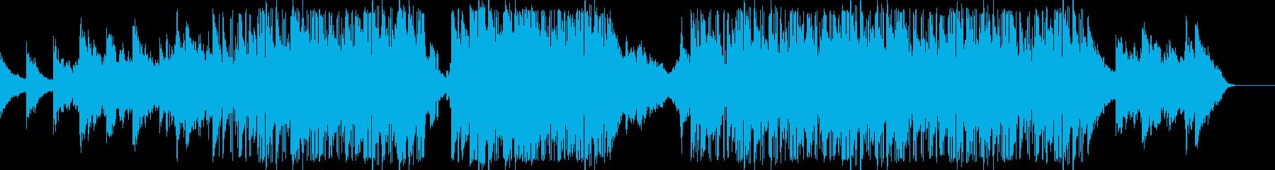 エレキギターのコードが特徴的なBGMの再生済みの波形