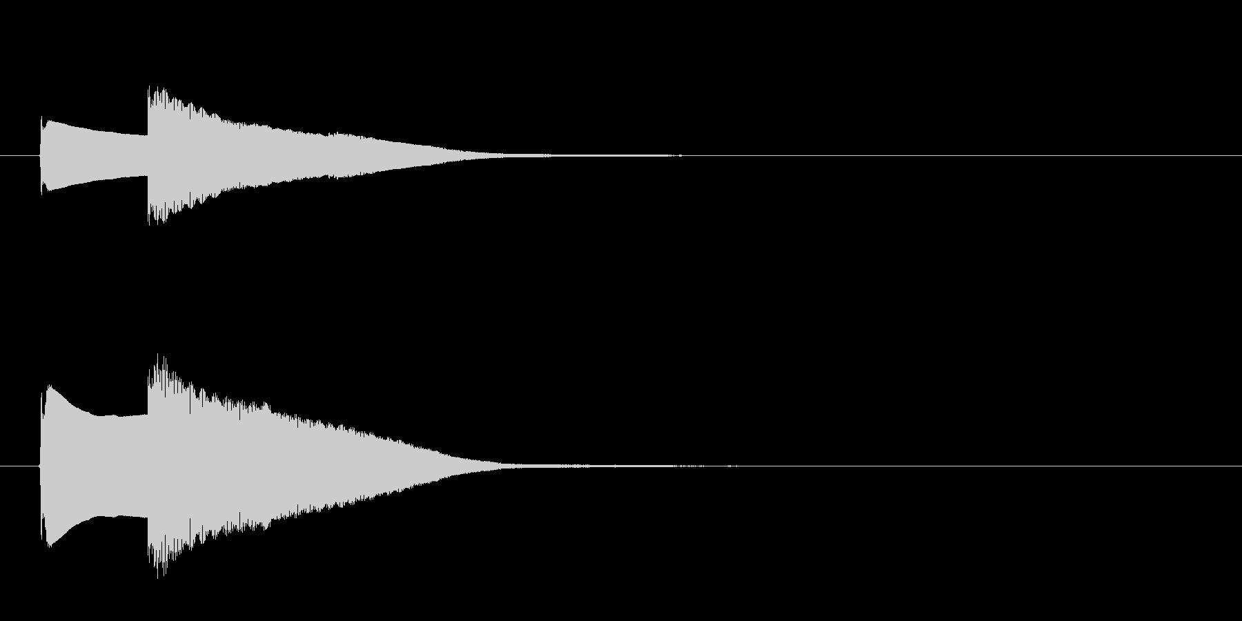 クイズ正解音(ピンポン)2の未再生の波形