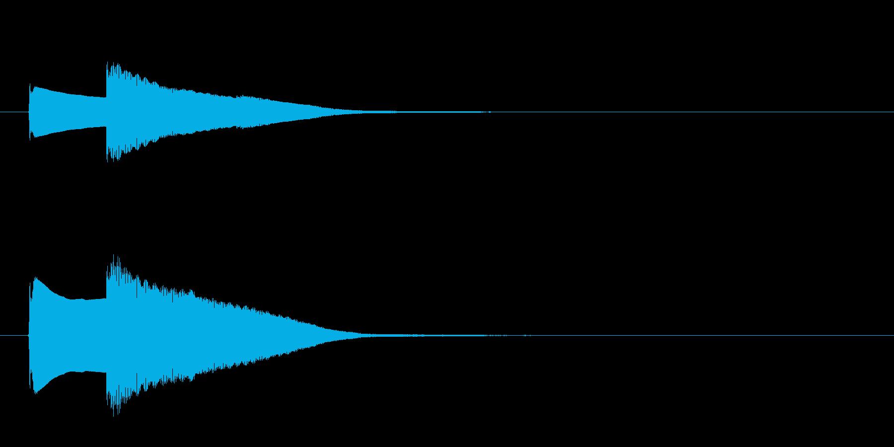 クイズ正解音(ピンポン)2の再生済みの波形
