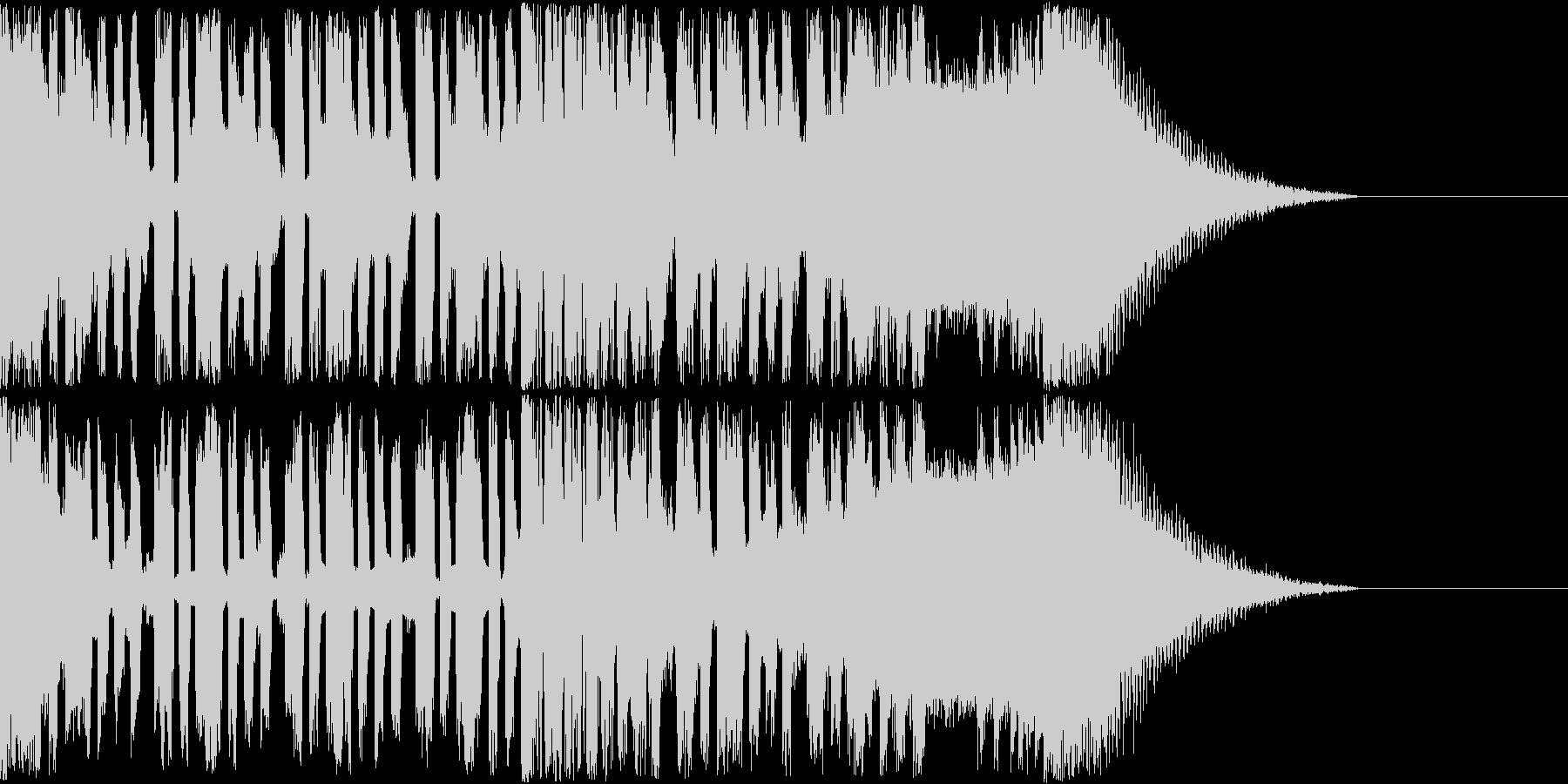 【EDM風】攻撃的なイケイケサウンドの未再生の波形