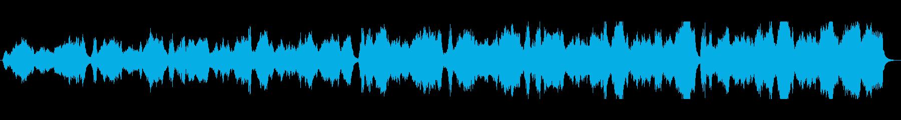 ゲームのエンディング風ストリングス曲の再生済みの波形