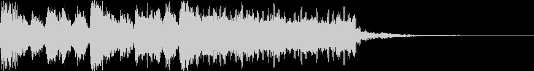 レベルUP・クリアの短めファンファーレの未再生の波形