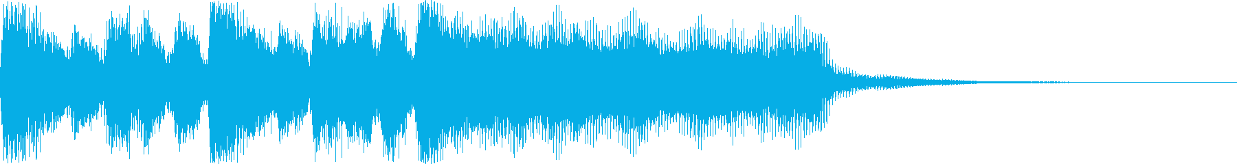 レベルUP・クリアの短めファンファーレの再生済みの波形