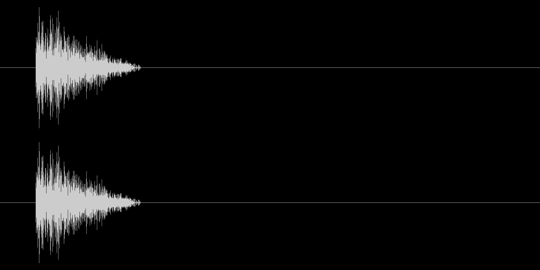 NES シューティング01-3(ダメージの未再生の波形