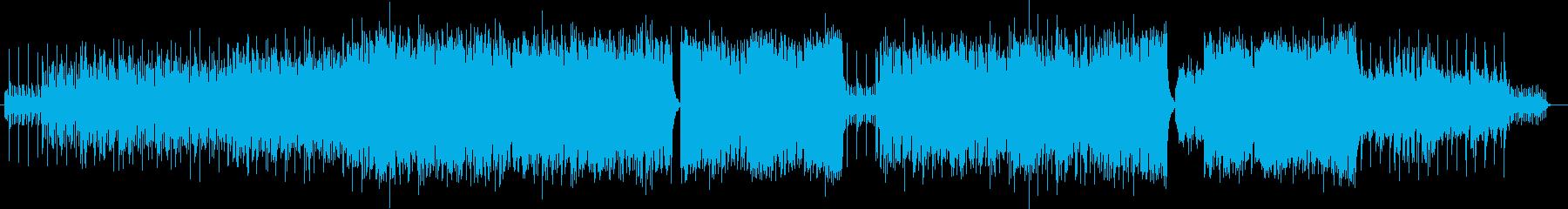 煌びやかでかっこいい魅惑的な曲の再生済みの波形