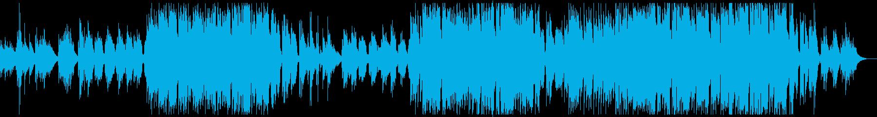アコースティックなポップなバラードの再生済みの波形