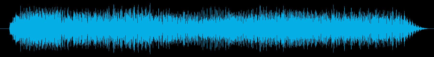 エレクトリックギター:パワーリフの再生済みの波形