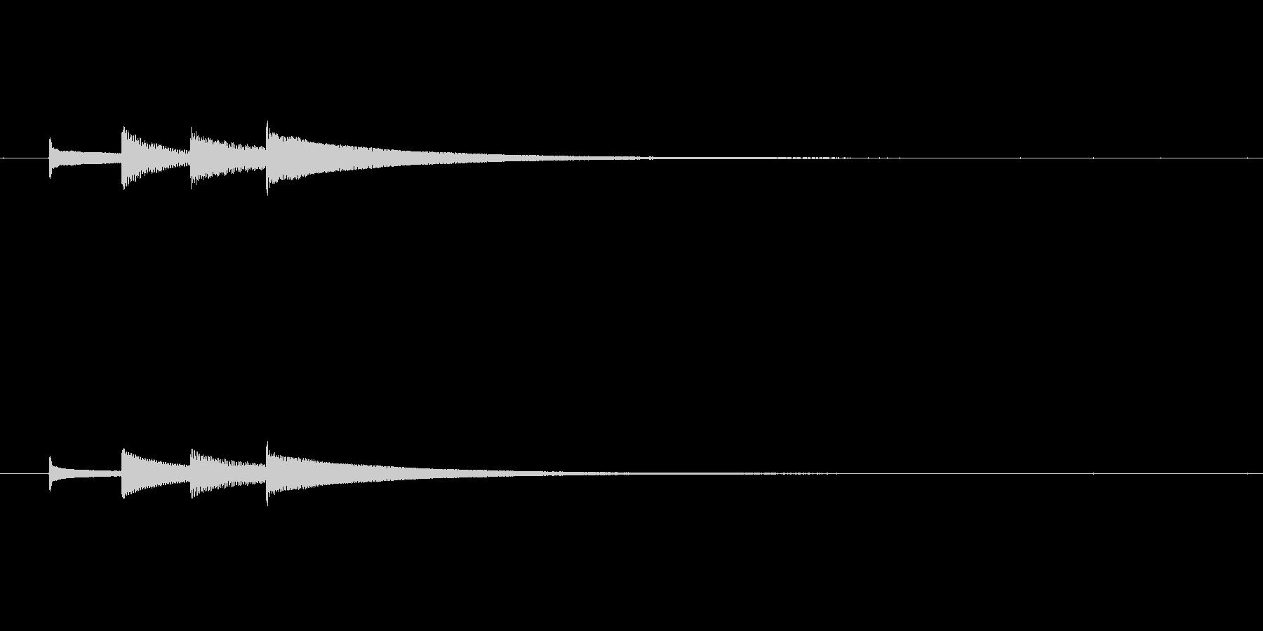 カリンバの優しいサウンドロゴ⑥の未再生の波形