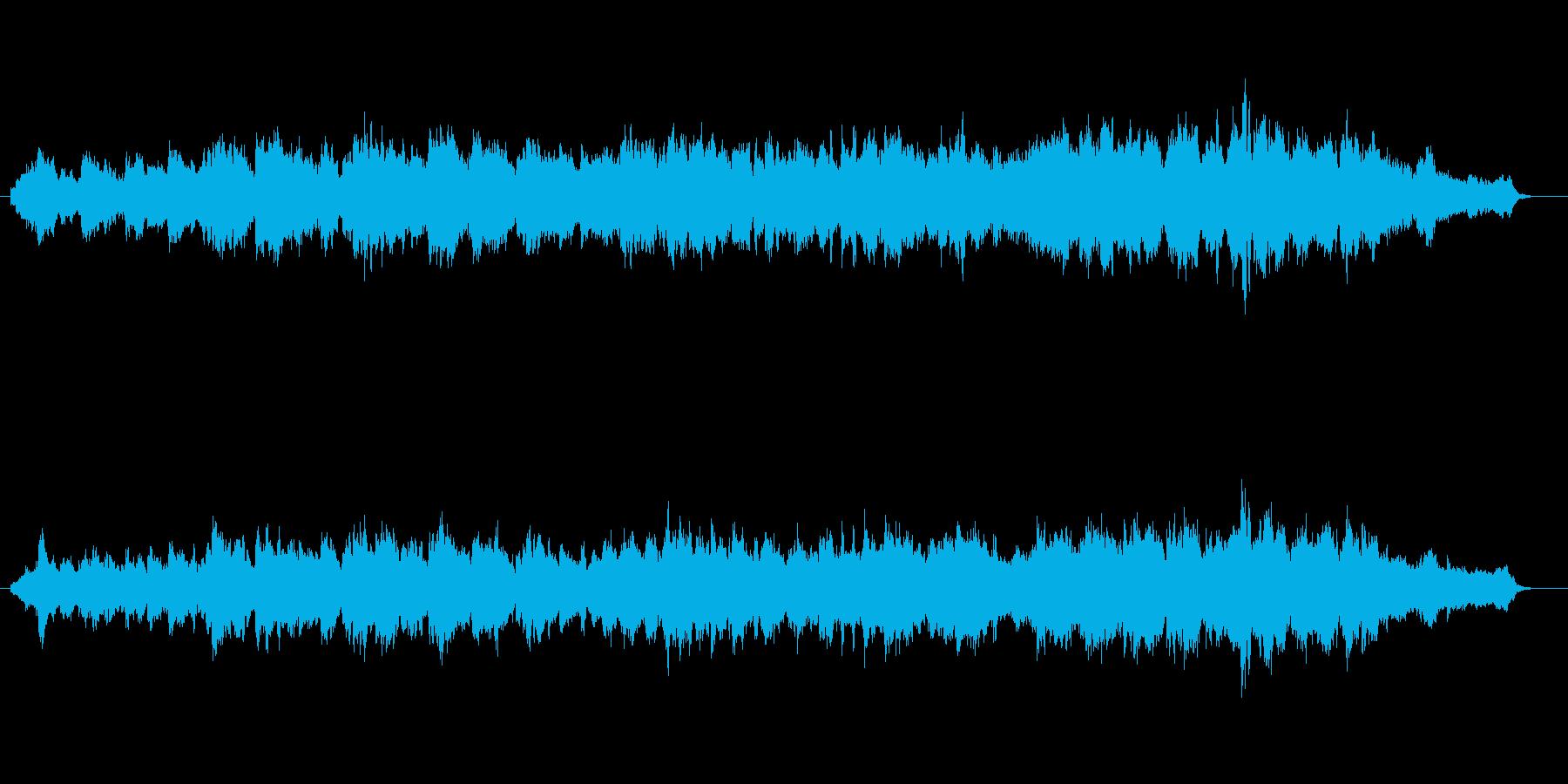 ほのぼのした暖かい雰囲気のBGMの再生済みの波形