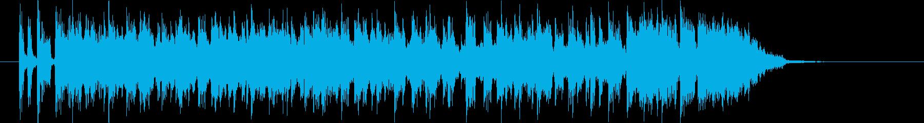 スピード感のあるワクワクするポップの再生済みの波形