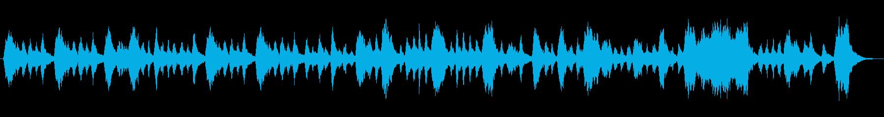 のんびりとした雰囲気のヴァイオリン楽曲の再生済みの波形