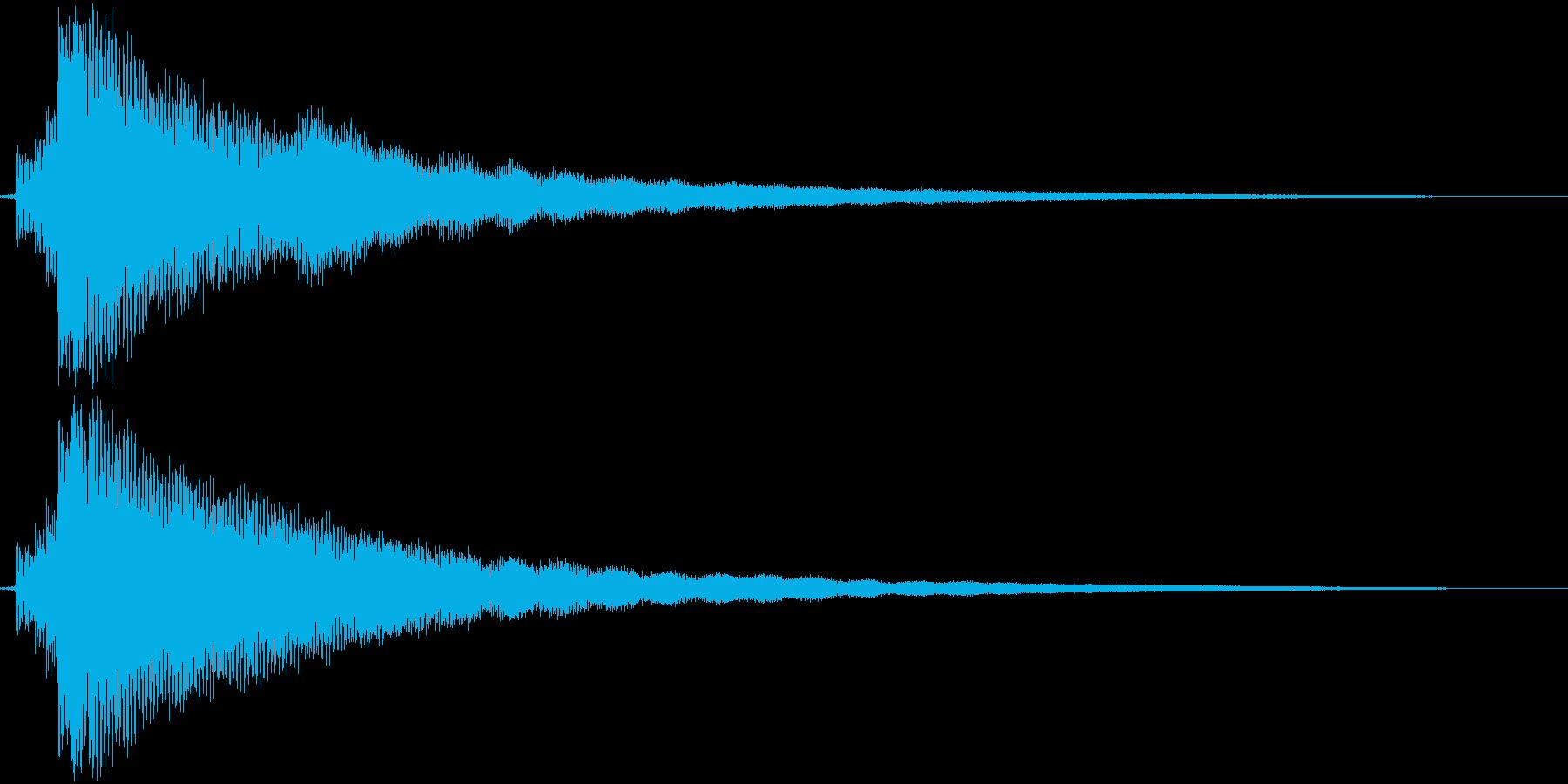 【ギター】Emコードの再生済みの波形