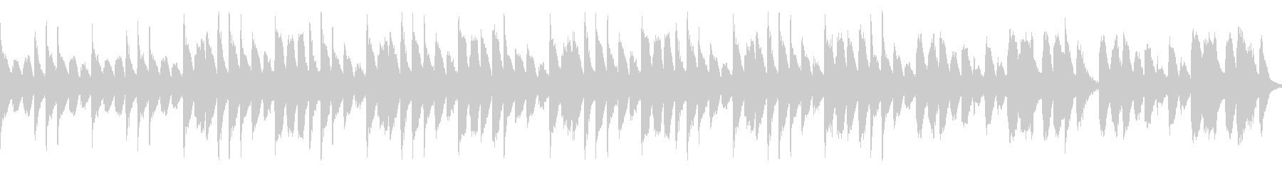 明るくわくわくするようなループBGMの未再生の波形