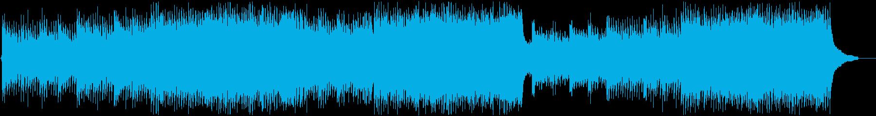 【企業VP】透明感・期待感のあるピアノの再生済みの波形