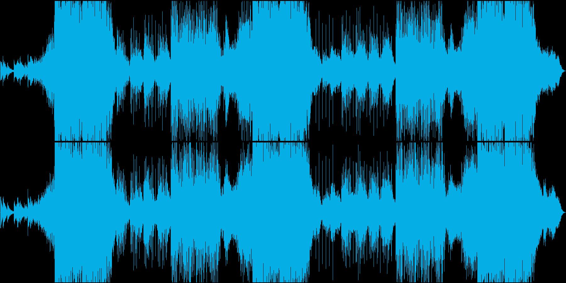 EDM静・動が交錯する切ないメロの和風曲の再生済みの波形