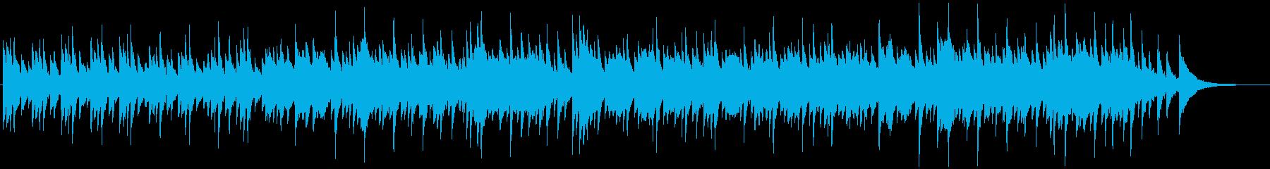 回想シーンっぽいピアノ曲の再生済みの波形