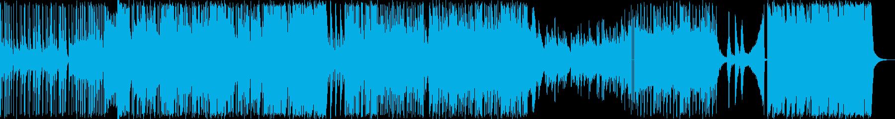 激しく駆け抜けるようなピアノインストの再生済みの波形