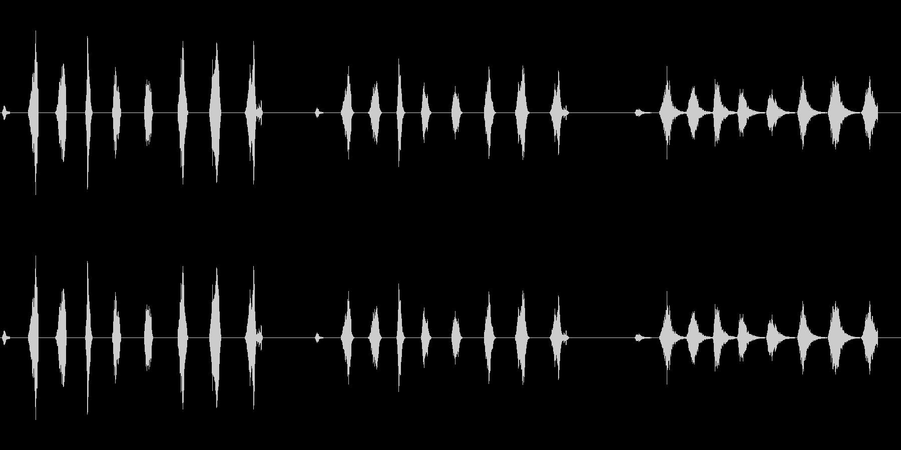 ローププル1の未再生の波形