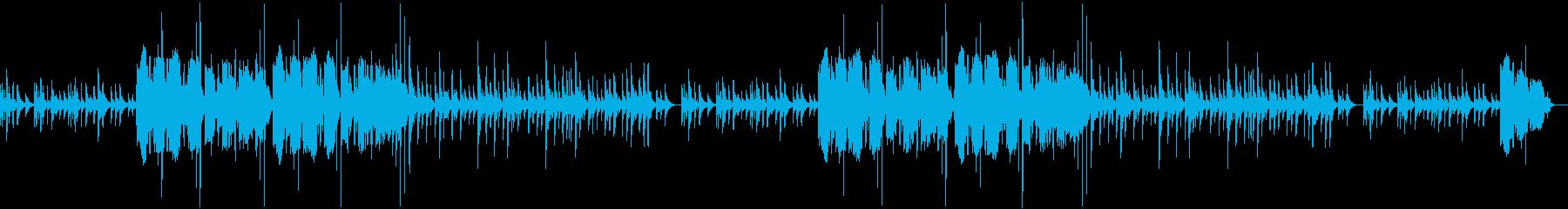琴の音色が印象深い美しい和風BGMの再生済みの波形