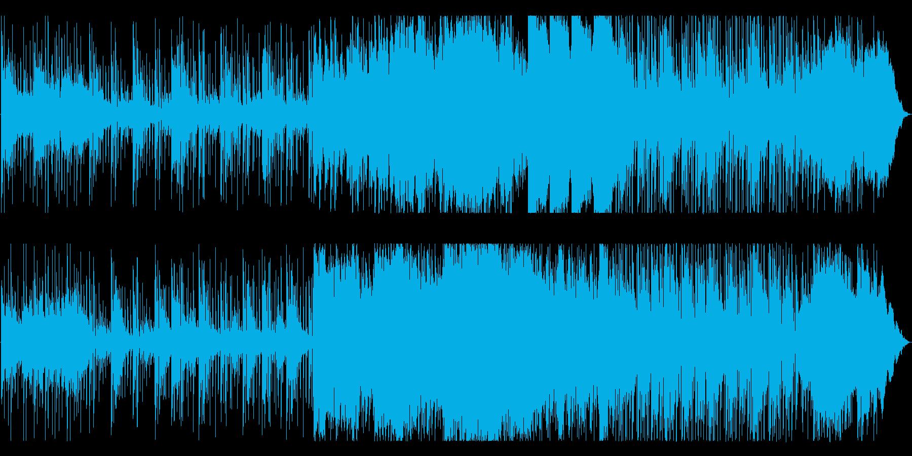 説明解説シーンに最適なアンビエントテクノの再生済みの波形