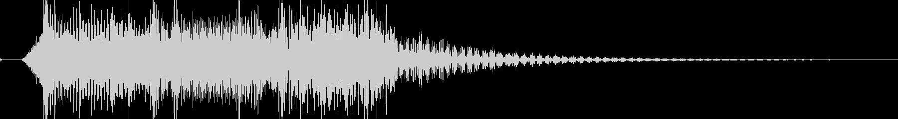 迫力あるロック・メタルのジングル 02の未再生の波形