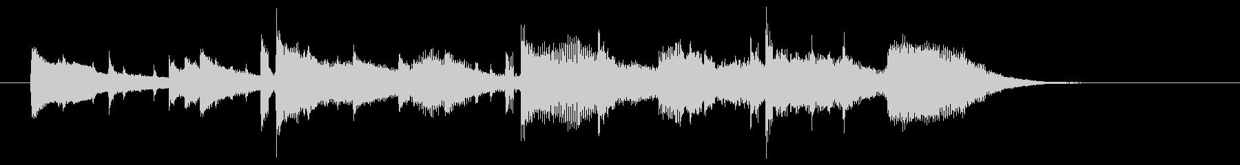 ストリングスがドラマチックな楽曲の未再生の波形