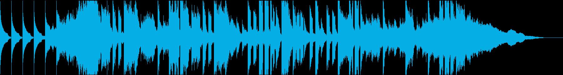 DJスクラッチと女性ヴォーカルのジングルの再生済みの波形