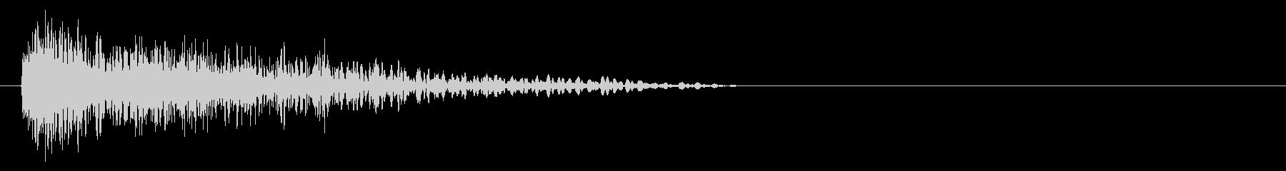 DJ スクラッチ 下降音 デューン↓の未再生の波形