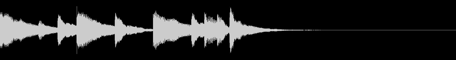 ラジオ、ほのぼの可愛いマリンバのジングルの未再生の波形