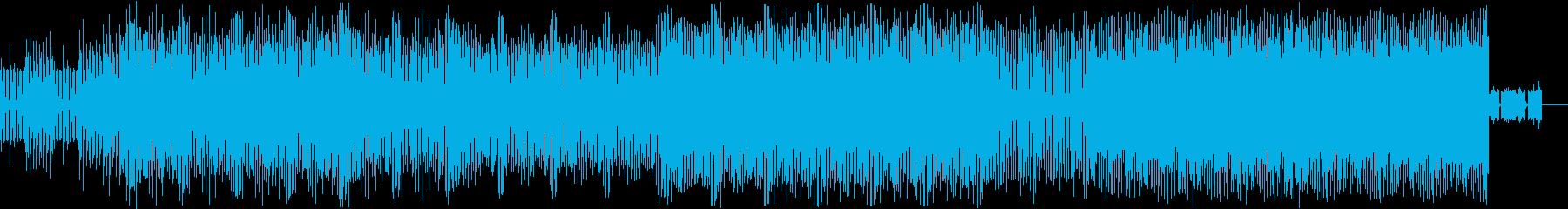 緊迫したシンセサウンドの再生済みの波形