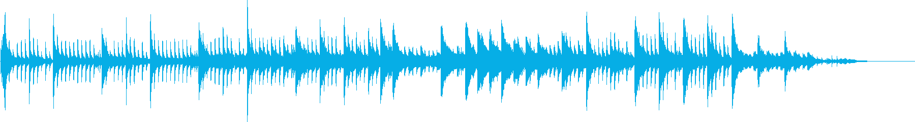 KANTピアノソロ4幻想的なシーン等用の再生済みの波形