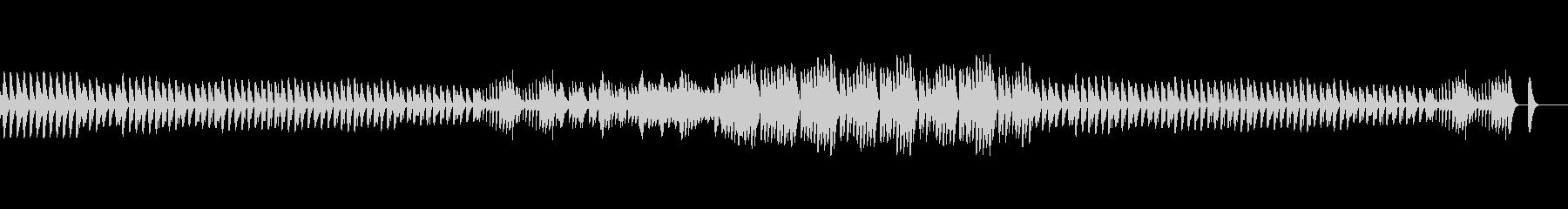 ほのぼのかわいい雰囲気の木琴の未再生の波形