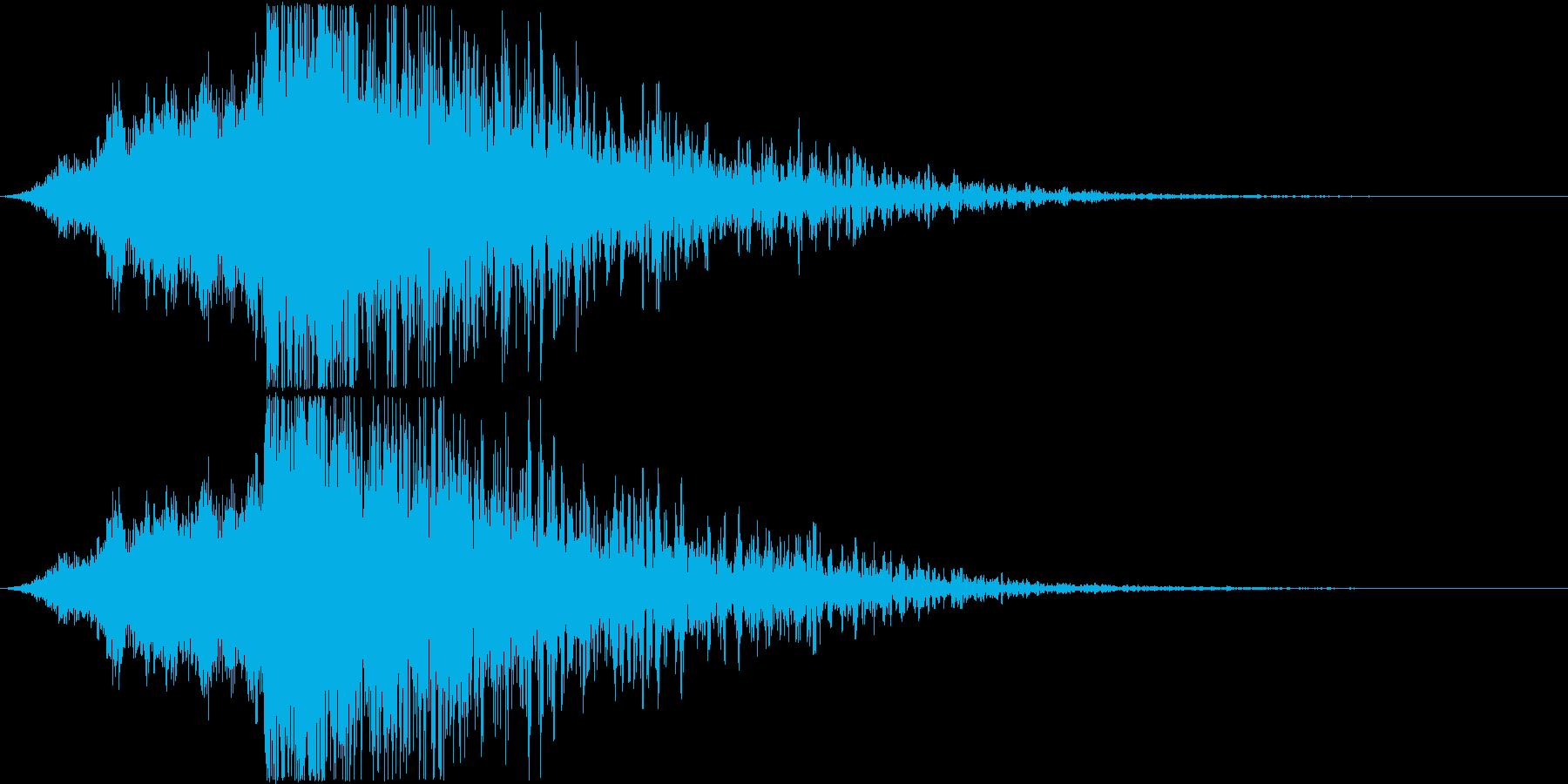 ミサイルの接近と爆発、ロケット爆発と爆弾の再生済みの波形