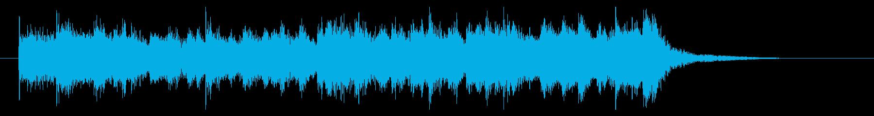栄光溢れる行進風オーケストラジングルの再生済みの波形