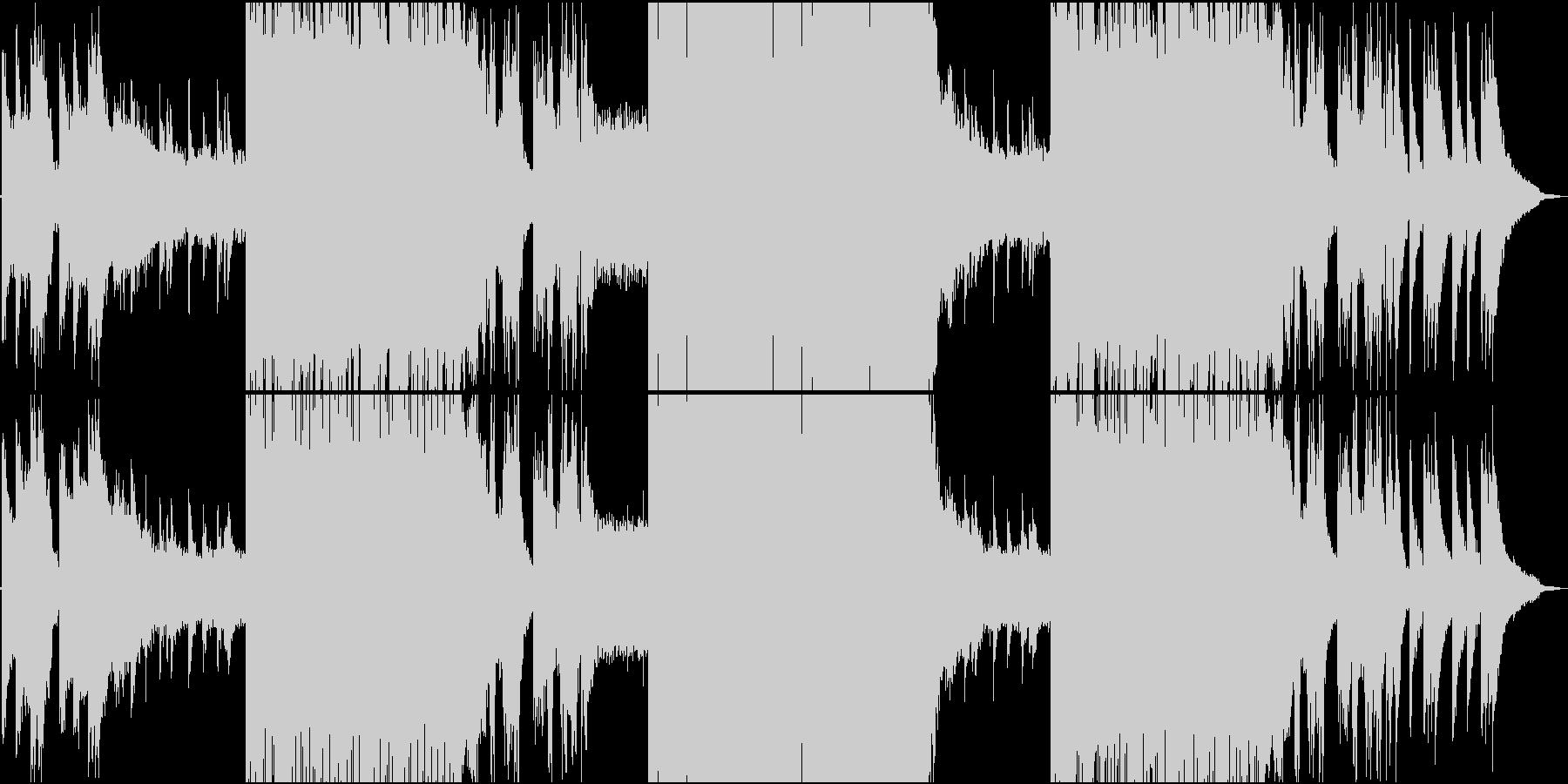 静かなR&Bと激しいFutureBassの未再生の波形