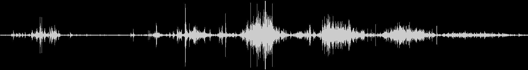 スケボー(スケートボード)の音の未再生の波形