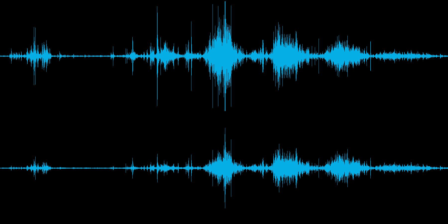 スケボー(スケートボード)の音の再生済みの波形