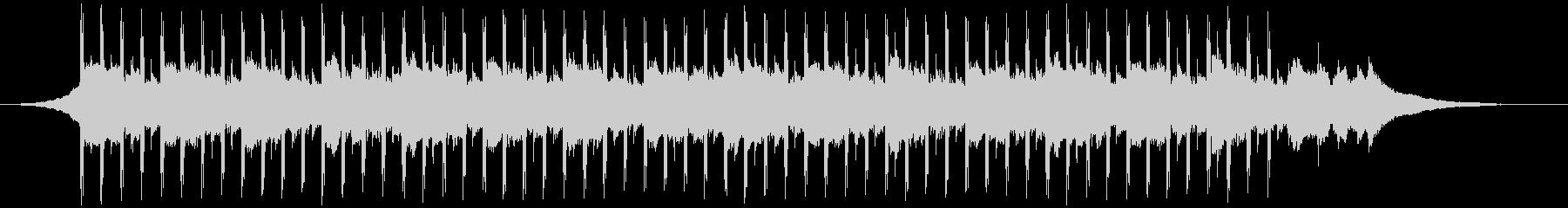 チュートリアルミュージック(短)の未再生の波形
