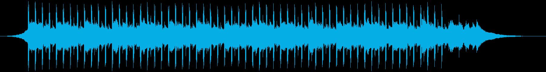 チュートリアルミュージック(短)の再生済みの波形