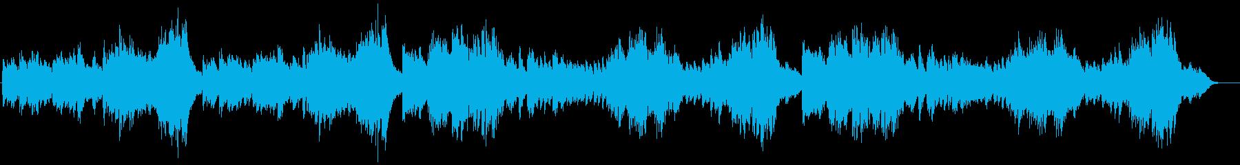 雨の日のティータイムに合いそうなピアノ曲の再生済みの波形