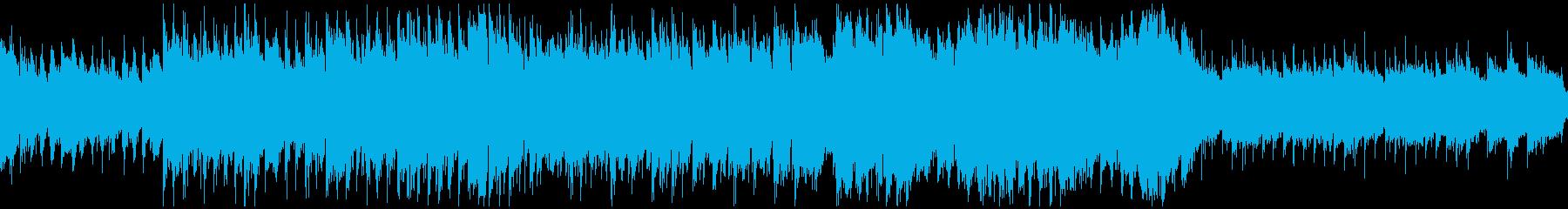 シネマティック造語BGMテンポ遅・ループの再生済みの波形