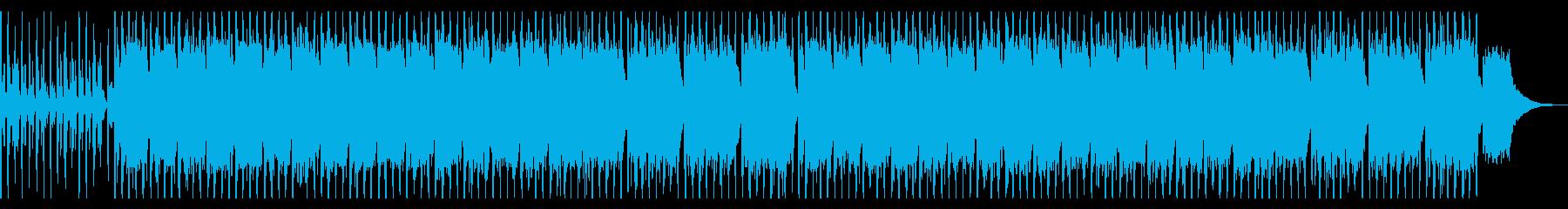 応援歌っぽいクワイアと手拍子の再生済みの波形