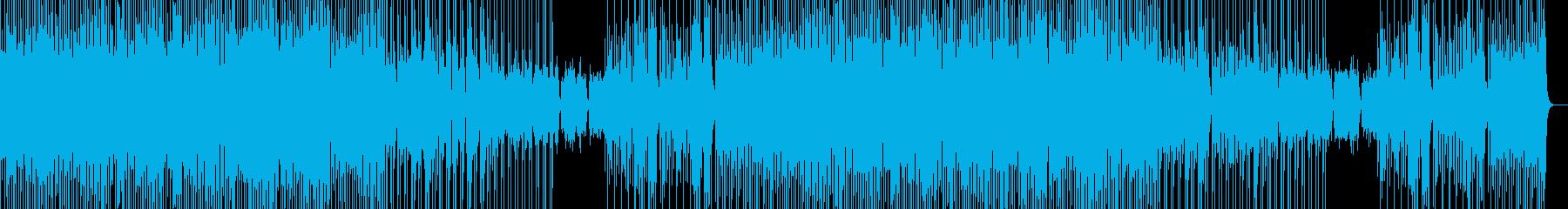 おしゃれで雰囲気の良いBGMの再生済みの波形