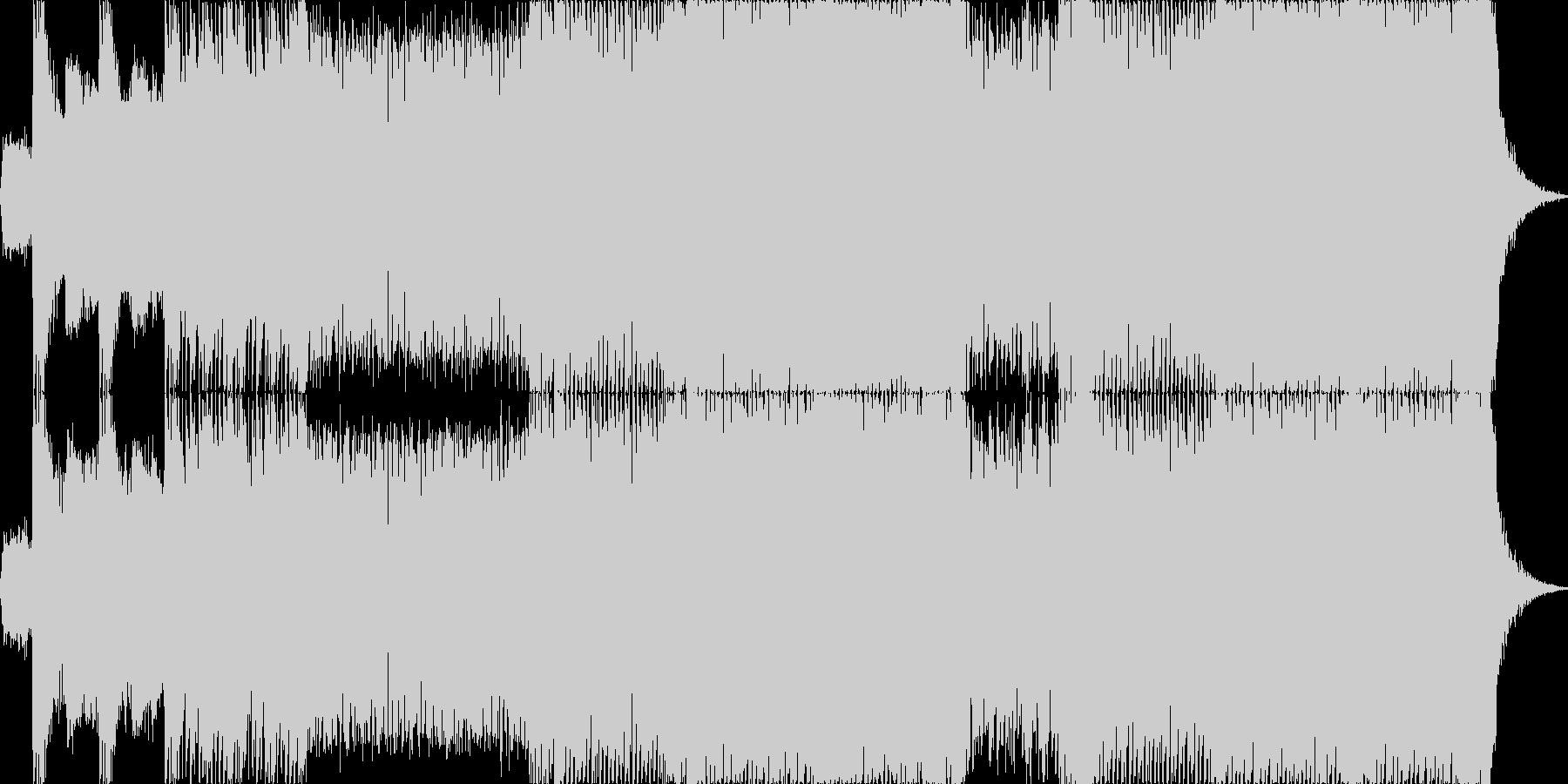 ヘヴィーで攻撃的なエレキギターの未再生の波形
